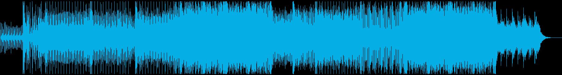 フレンチポップテイストの軽快なテクノの再生済みの波形