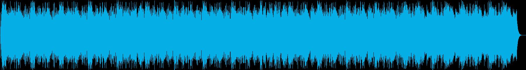 シリアスで浮遊感のあるシンセサイザー音の再生済みの波形