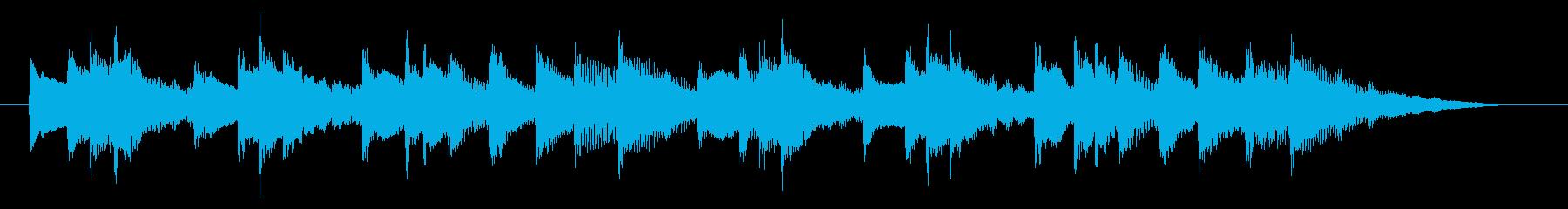メタルハープの神秘的なBGMの再生済みの波形