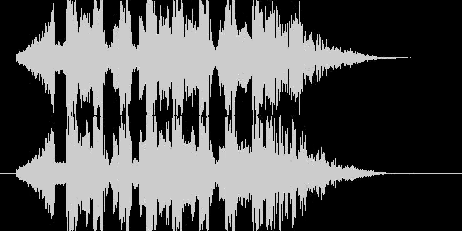 シンセサイザーが印象的なBGMの未再生の波形