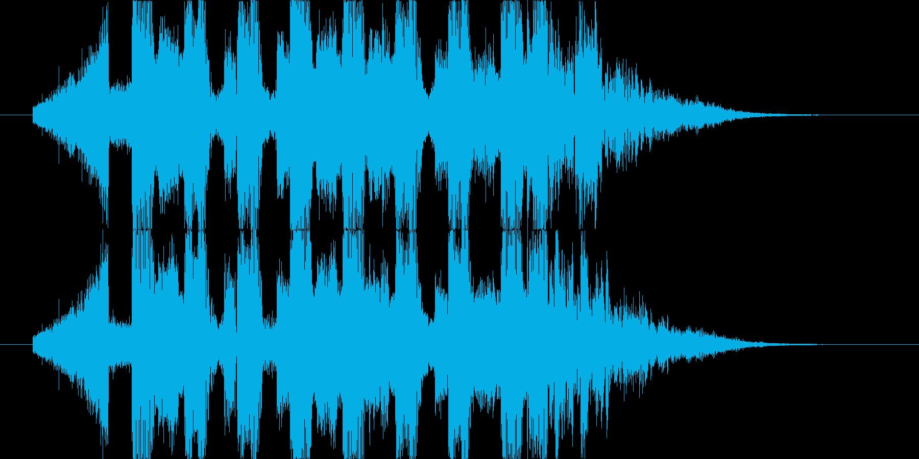 シンセサイザーが印象的なBGMの再生済みの波形