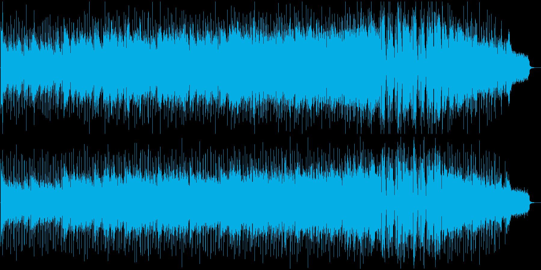 軽快で落ち着いたBGMの再生済みの波形