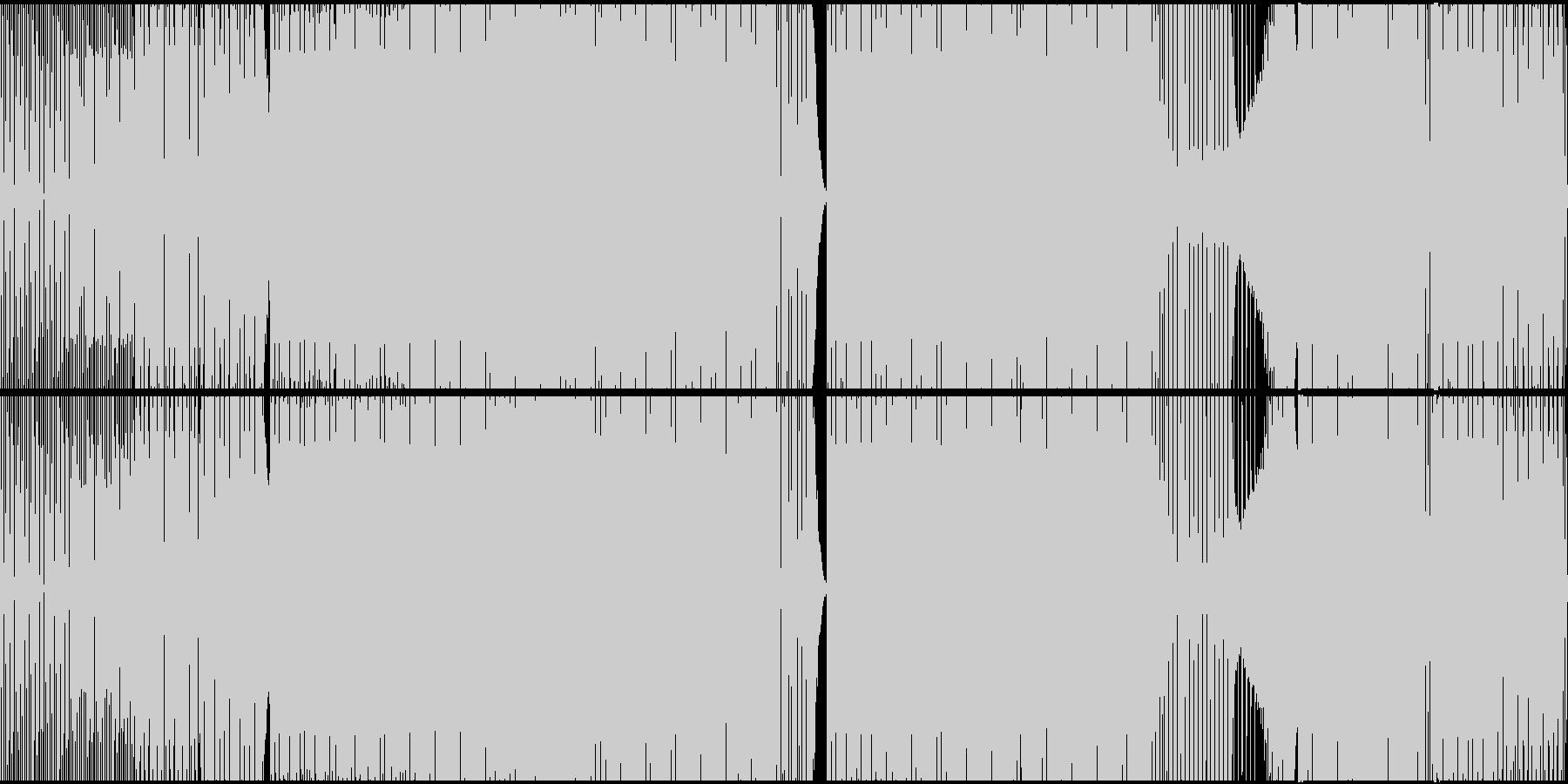 エレクトロハウス、アシッドシンセ、...の未再生の波形
