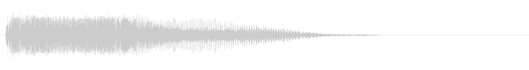 「ピーッ〜!」警笛による鳥の鳴き声の擬音の未再生の波形