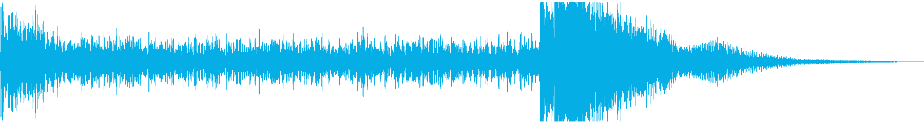 ティンパニーの迫力あるドラムロール/定番の再生済みの波形