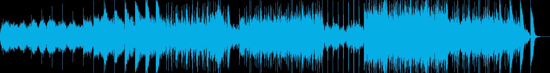 素朴な和風BGMの再生済みの波形