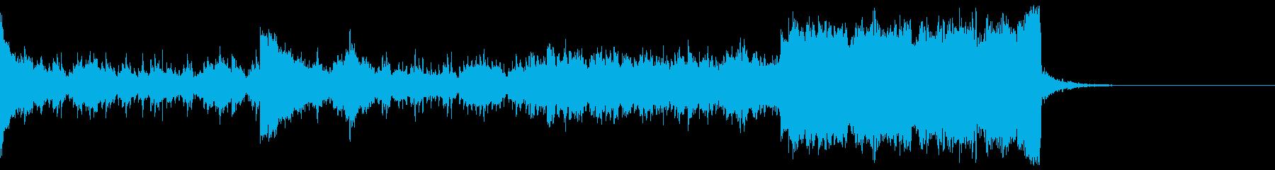 デジタル、CG、SFX等の映像ショート⑧の再生済みの波形