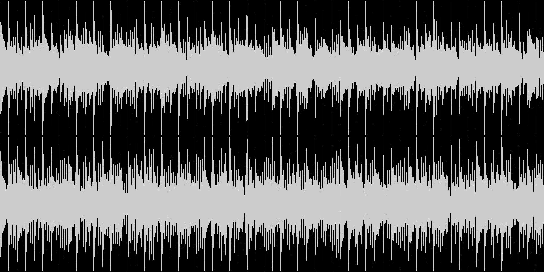 ポップ テクノ ループの未再生の波形