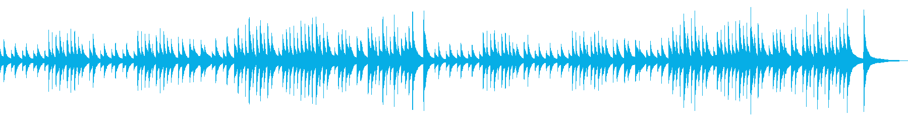 定番クラシック・ジムノペディ・ソロピアノの再生済みの波形
