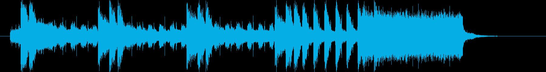 ピアノがキラキラしたJPOP風ジングルaの再生済みの波形