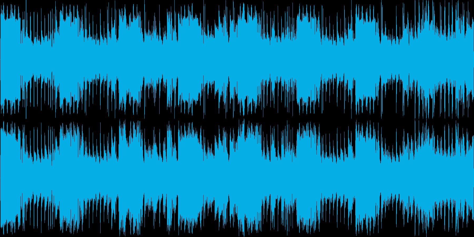 サスペンス系BGMループ音源の再生済みの波形