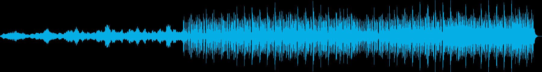 ストリングスとピアノによるフラクタル構造の再生済みの波形