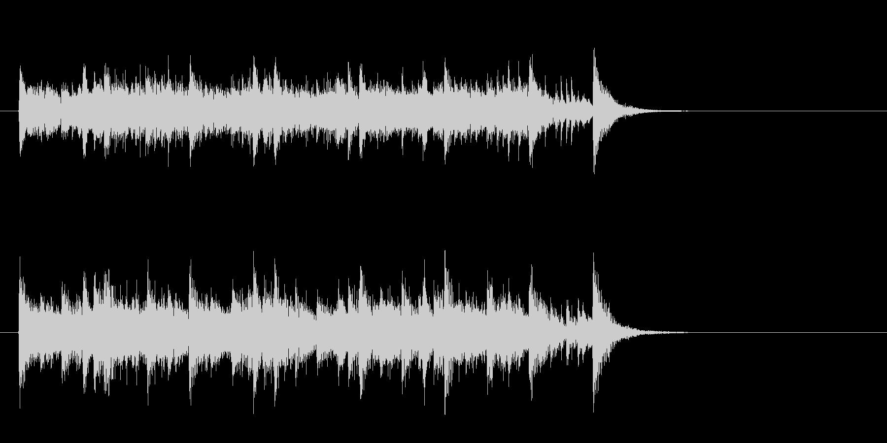 素朴なフォークポップス(イントロ)の未再生の波形
