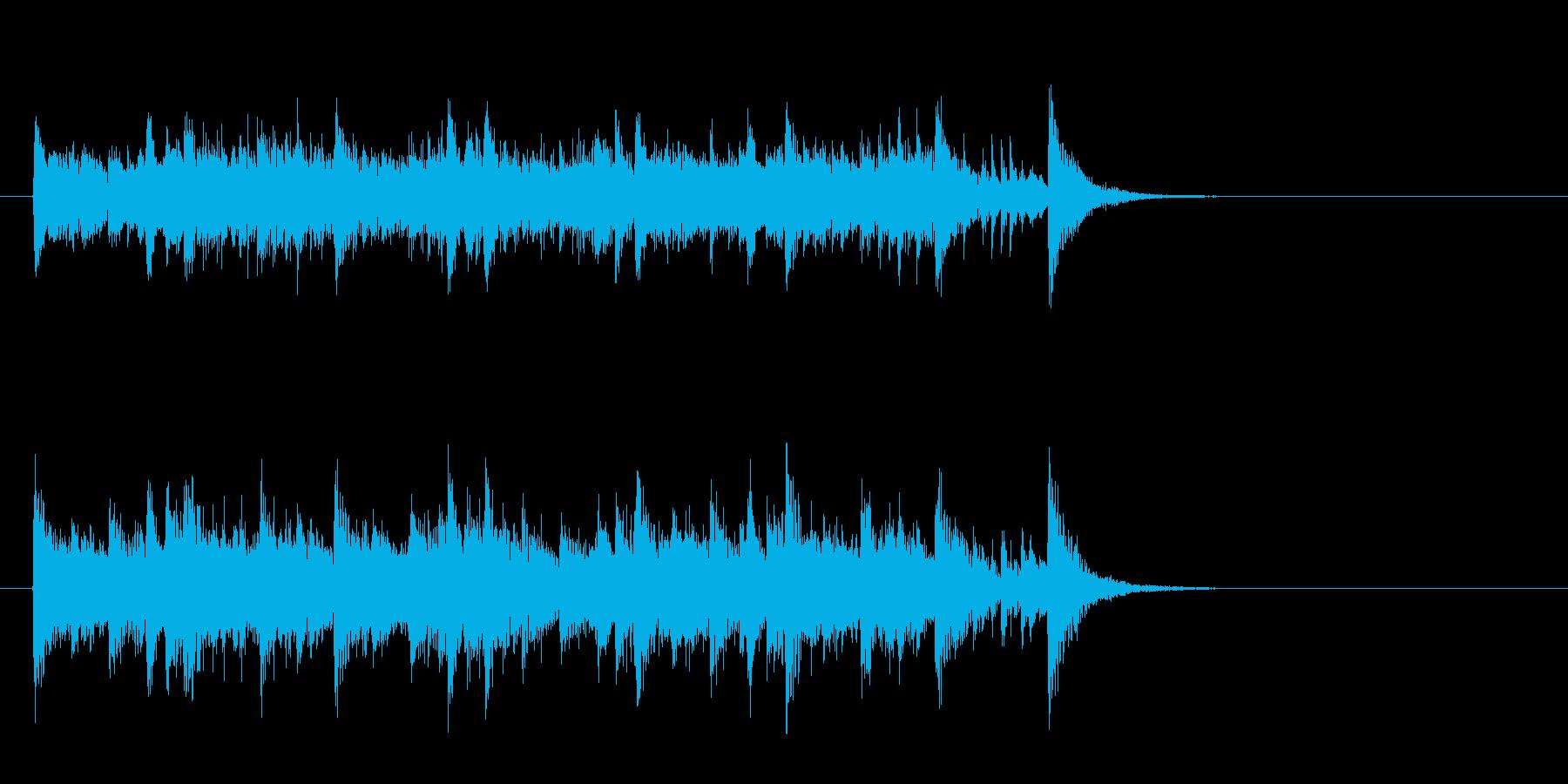 素朴なフォークポップス(イントロ)の再生済みの波形