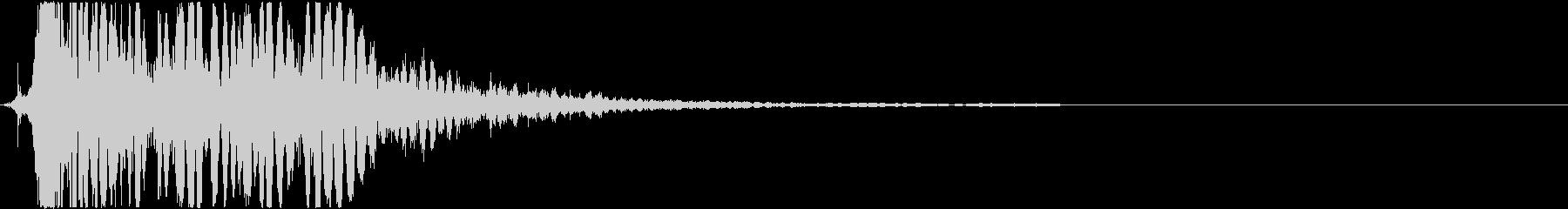 【銃】 レーザーガン_06 チュンッの未再生の波形