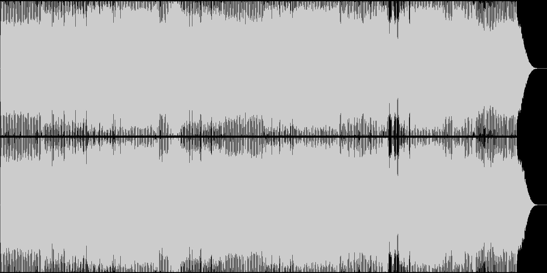 生演奏。女声ボーカル疾走系ギターロックの未再生の波形