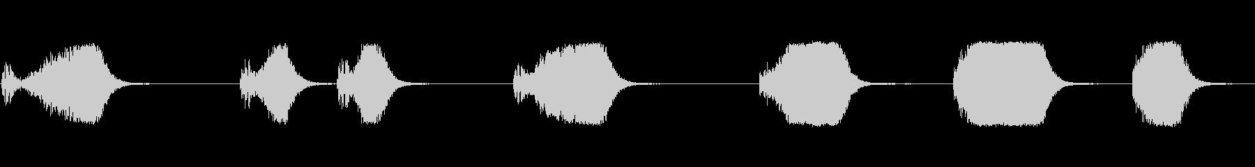 ヒューシュフランジエアマルチdの未再生の波形