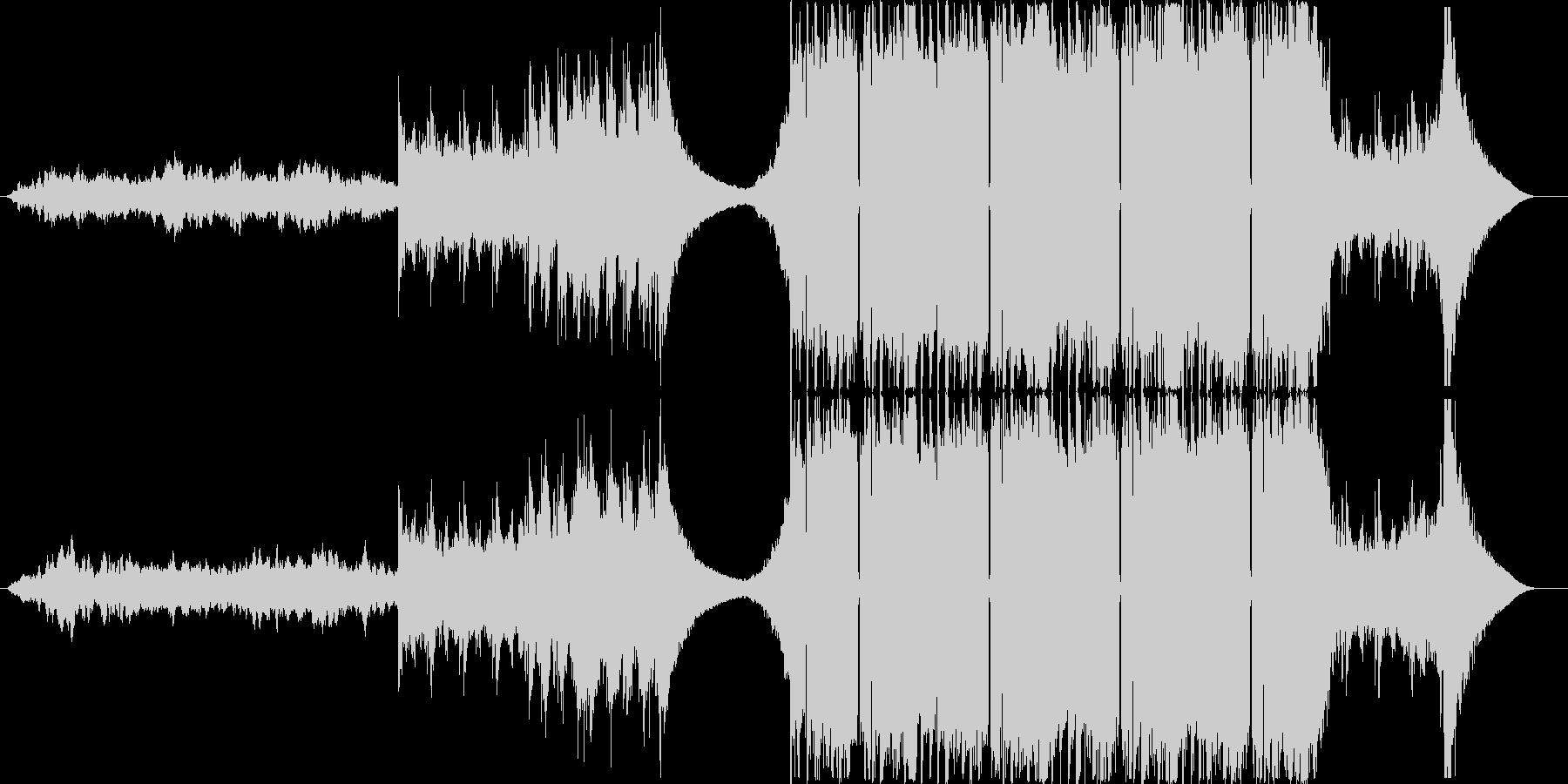 未来感あふれるテクスチャー系EDMの未再生の波形