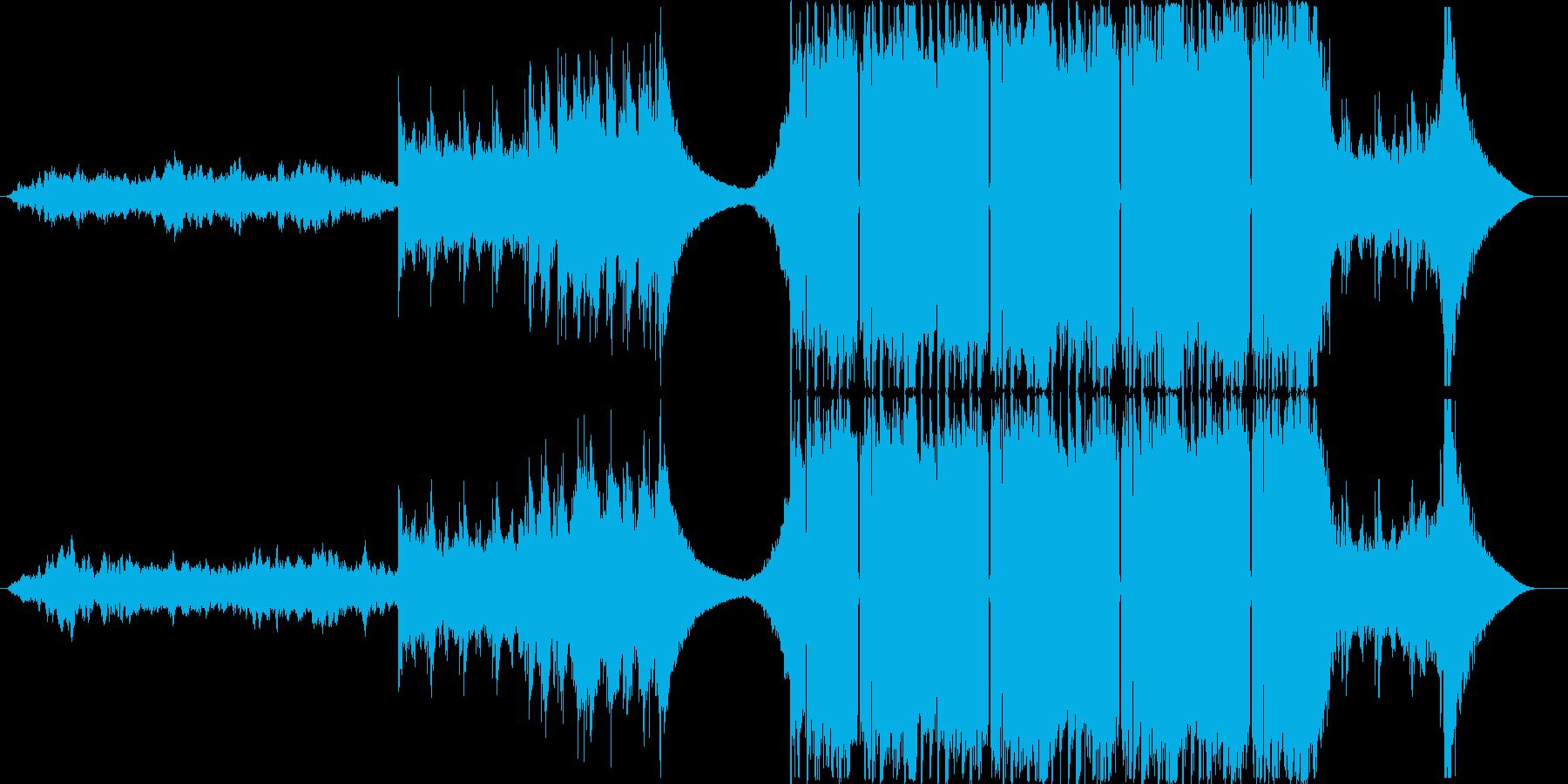 未来感あふれるテクスチャー系EDMの再生済みの波形