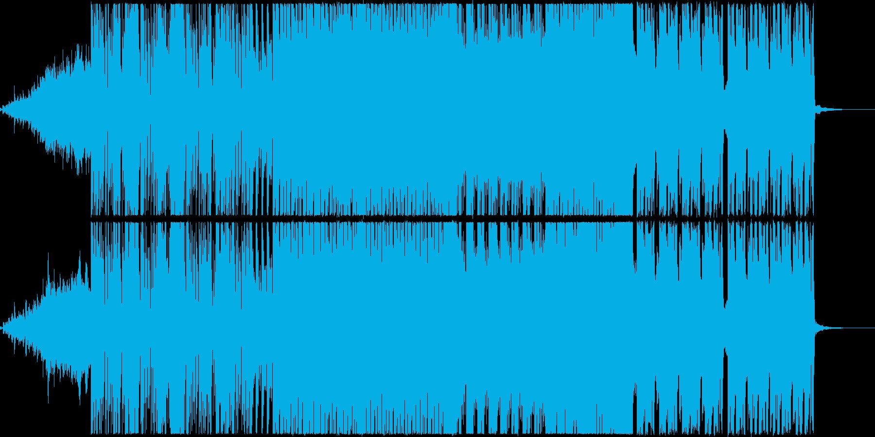 エレクトロなクラブ系ダンストラックEDMの再生済みの波形