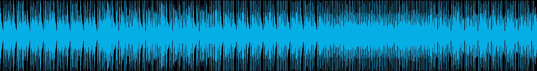 ほのぼのとした日常のコミカルな会話シーンの再生済みの波形