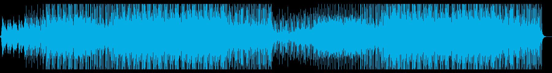 クールで心地よいトロピカルハウス楽曲の再生済みの波形