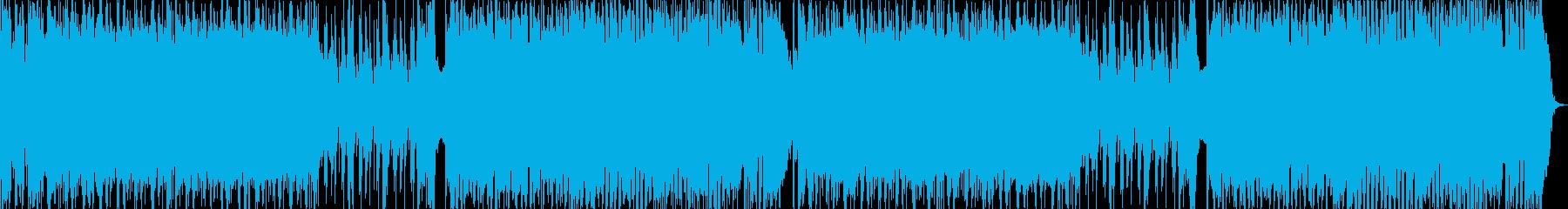 バラエティ、オープニング用元気なロックの再生済みの波形