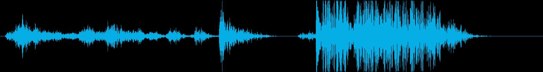 キーーバタン(扉の閉める音)の再生済みの波形