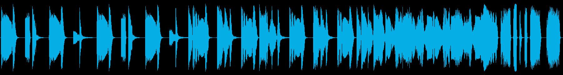 逆転した電子バンパーの再生済みの波形