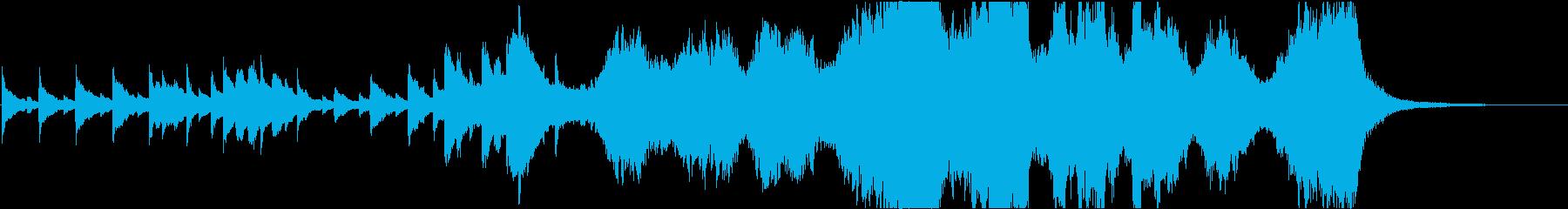 クリスマスをイメージしたオーケストラ曲の再生済みの波形