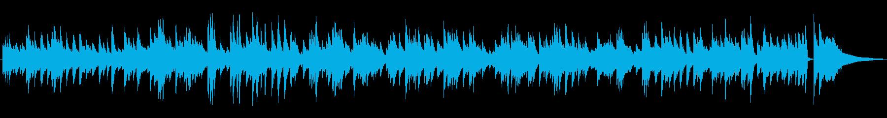 ゆっくりめのジャズラウンジピアノソロの再生済みの波形