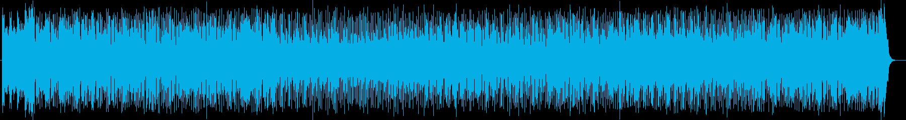 シンセが奏でる可愛らしいサンバの曲の再生済みの波形