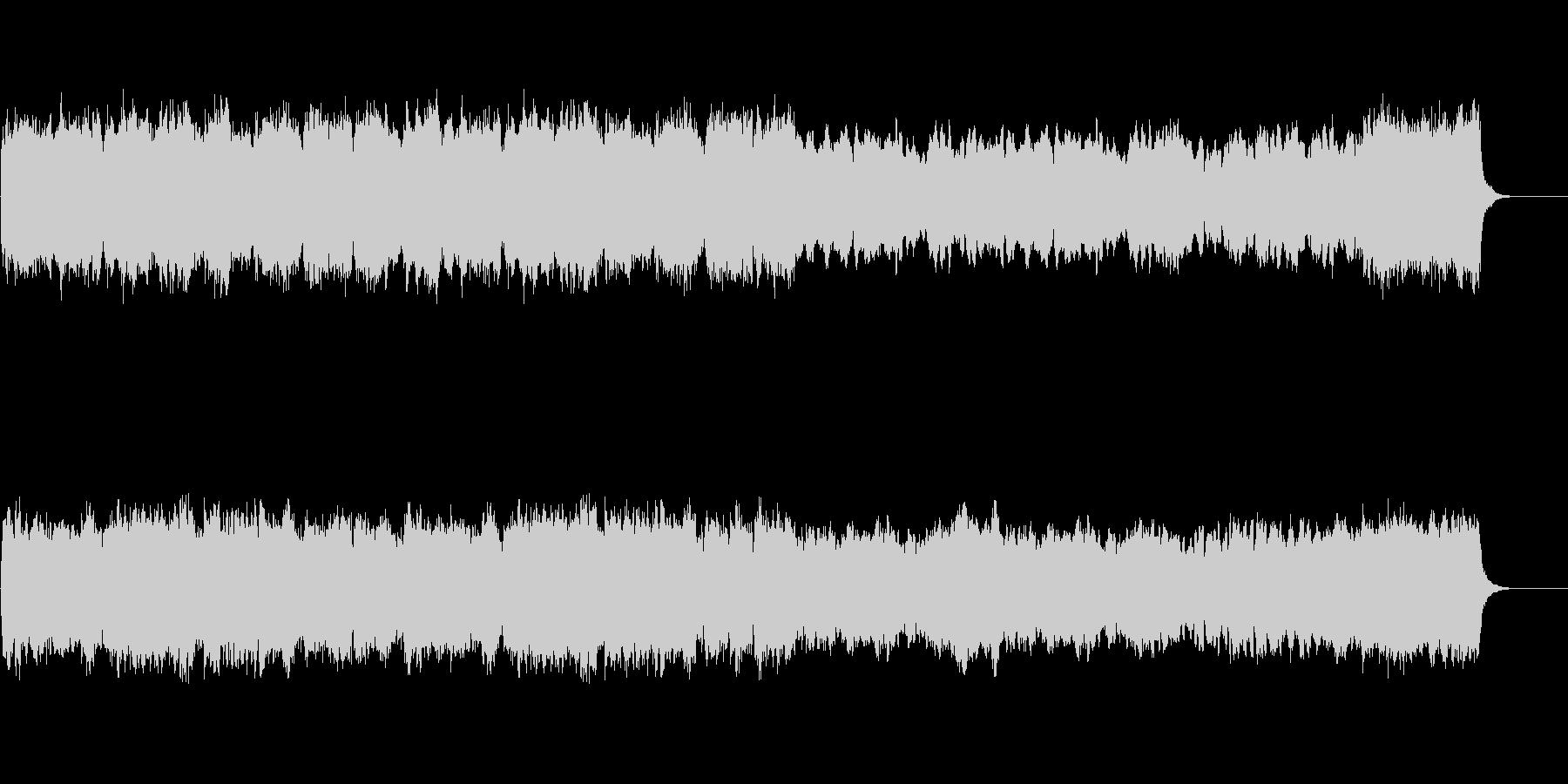 パイプオルガンの美しく荘厳な教会音楽の未再生の波形