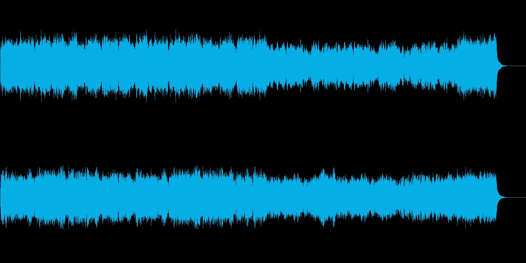 パイプオルガンの美しく荘厳な教会音楽の再生済みの波形