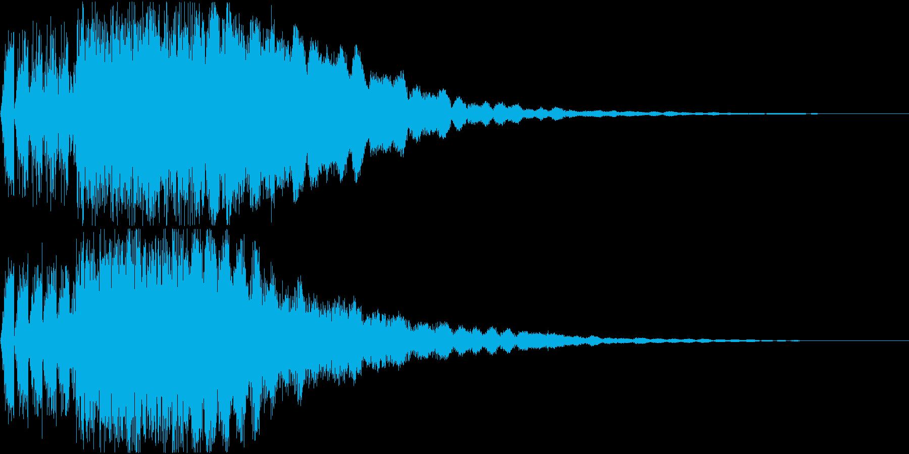 キュイン ギュイーン シャキーン 06の再生済みの波形