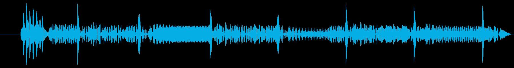 脈動電子オフラインエラーの再生済みの波形