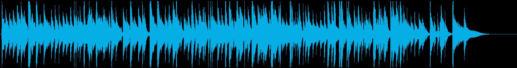 ナイロン弦ギターの落ち着いたジングルの再生済みの波形