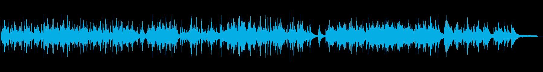 優しく感動的なピアノソロ曲の再生済みの波形