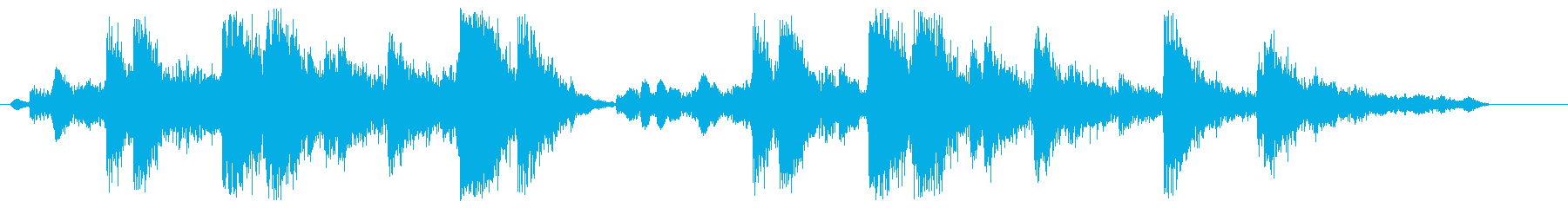 ガチャガチャ(機械が動く音)の再生済みの波形