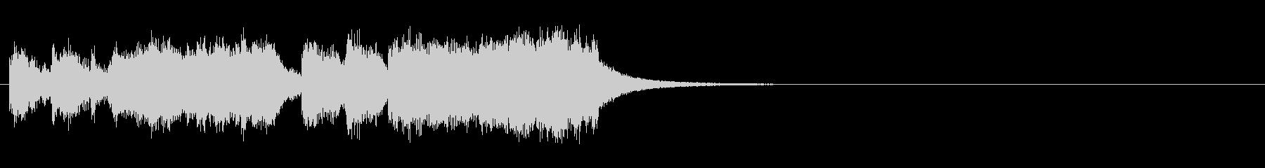 重厚感のある金管ファンファーレの未再生の波形