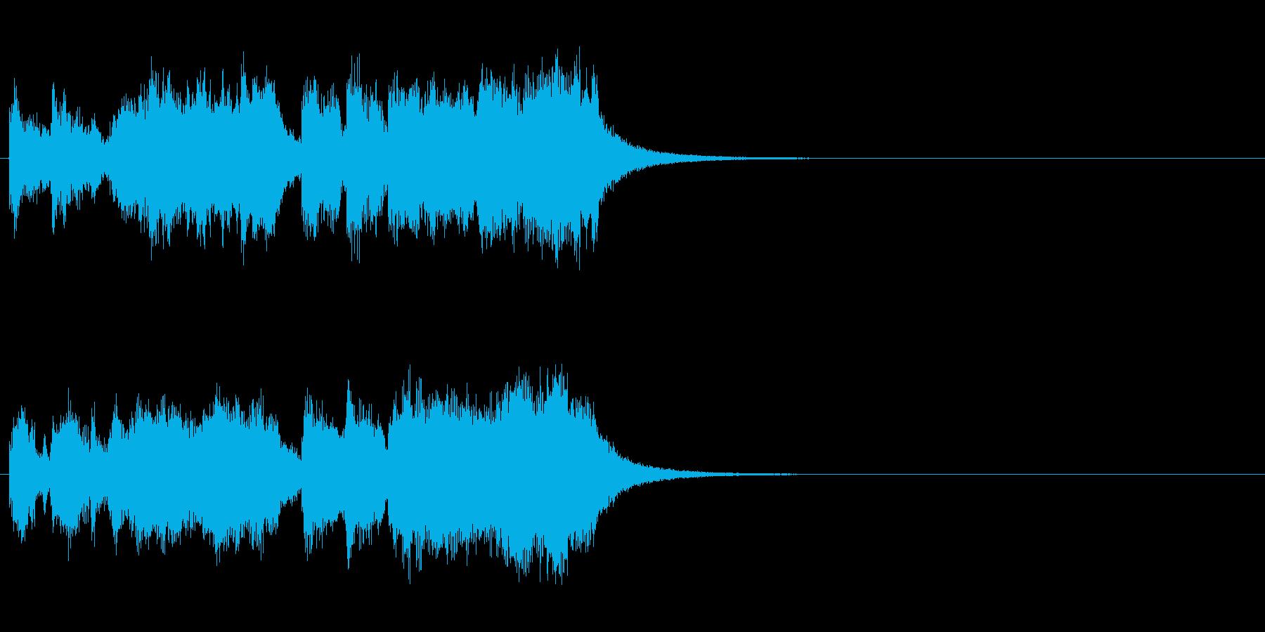 重厚感のある金管ファンファーレの再生済みの波形