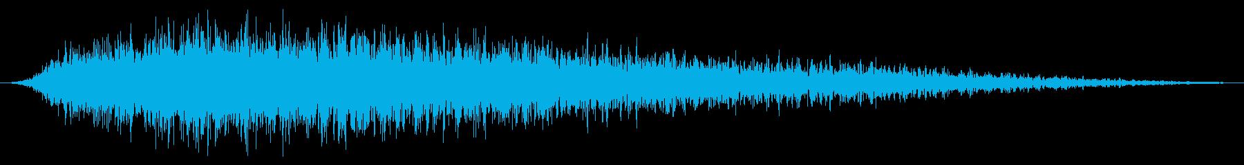 長いメタリックスペースウォッシュま...の再生済みの波形