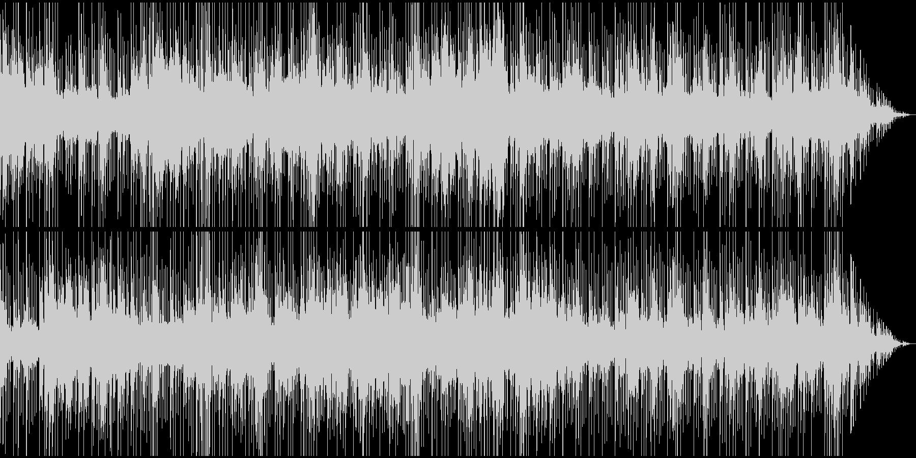 緊迫・単調なリズムのシリアス場面BGMの未再生の波形