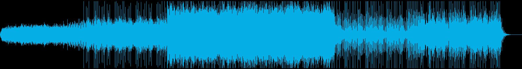 和楽器とシンセサイザーのミックスの再生済みの波形