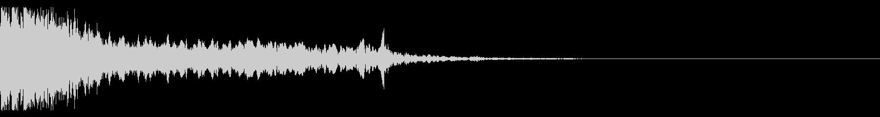 【和風】効果音001_決定音の未再生の波形