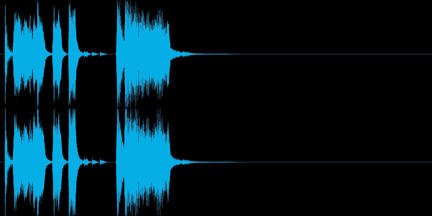 ファンファーレ ずっこけ クイズ コントの再生済みの波形