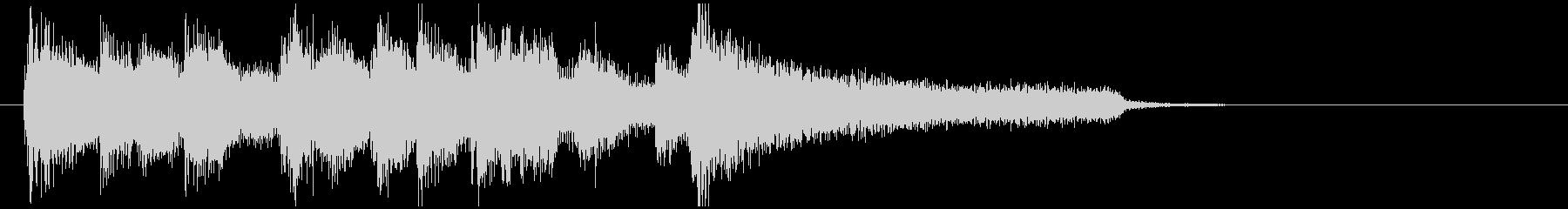 骨太なジャズサウンドのサックスジングルの未再生の波形