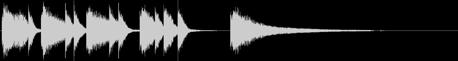 シンプルで爽やかなピアノソロジングル01の未再生の波形