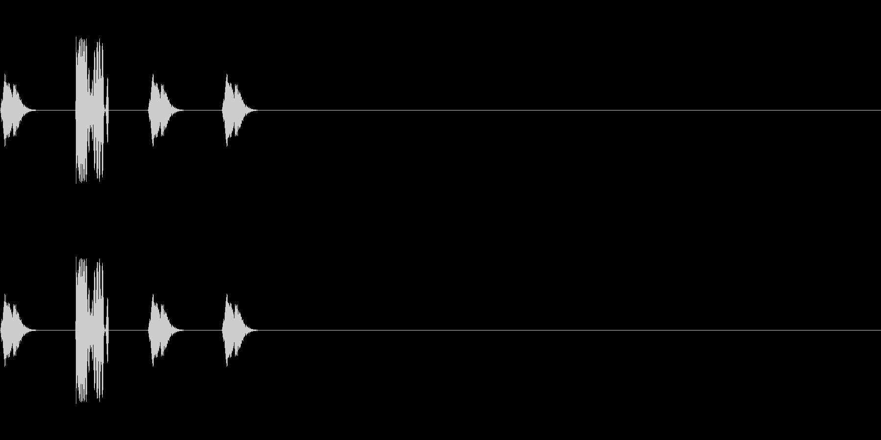 DJスクラッチ/ターンテーブル/E-14の未再生の波形
