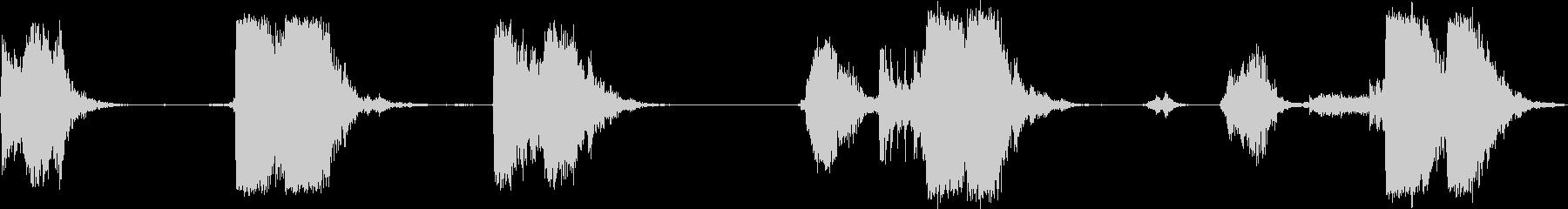 タンブル/クラッシュ;金属の影響/...の未再生の波形